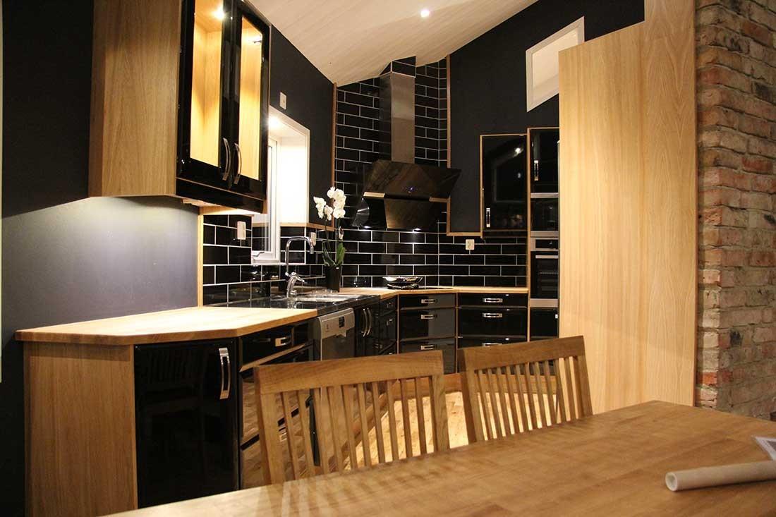 Köket Onyx - Högblankt Svart